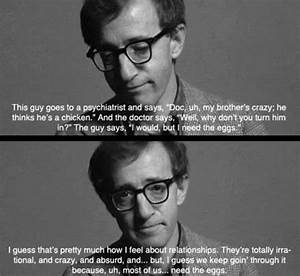 Woody Allen Zitate : charming life pattern annie hall movie quote woody allen zitate pinterest zitate ~ Frokenaadalensverden.com Haus und Dekorationen
