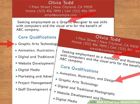 how to your resume online 13 steps with pictures wikihow