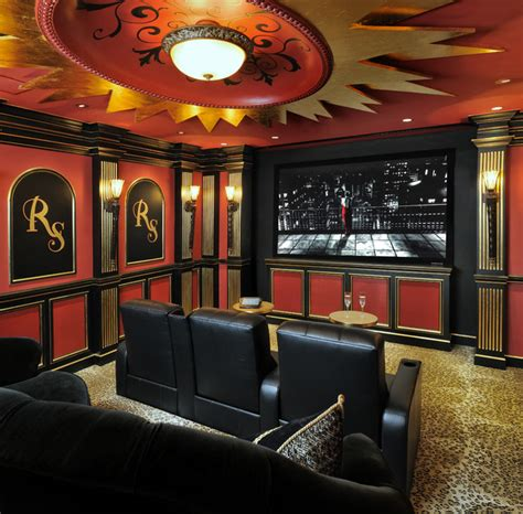 showroom theater traditional home theater houston by page design group