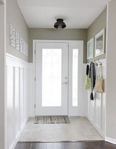 deco entree maison peinture blanche  lin entree