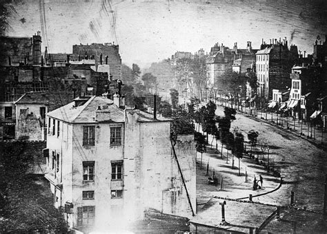 historic photo boulevard du temple 1838 a ghostly photograph seanmunger