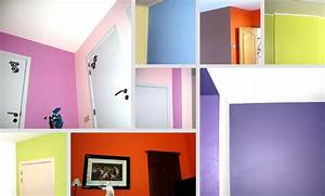 decoration maison peinture mur exemples d39amenagements With idee deco peinture murale
