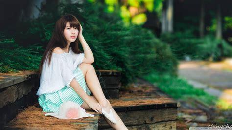 cute asian girl photography summer  hd desktop wallpaper