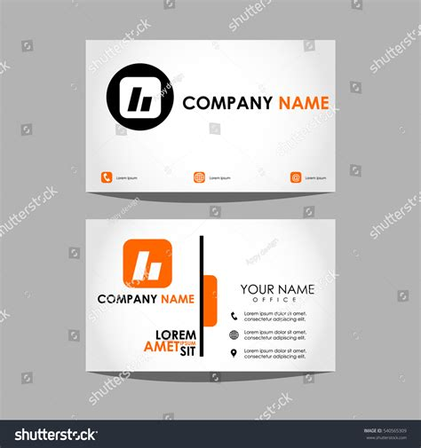 layout design template id card business stock vector