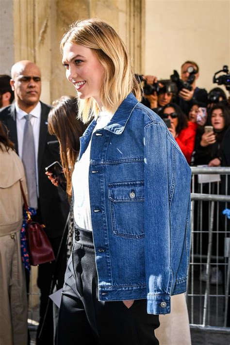 karlie kloss attends the christian dior show during paris ...