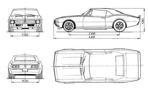 Chevrolet Camaro 1968 Blueprint - Download free blueprint ...