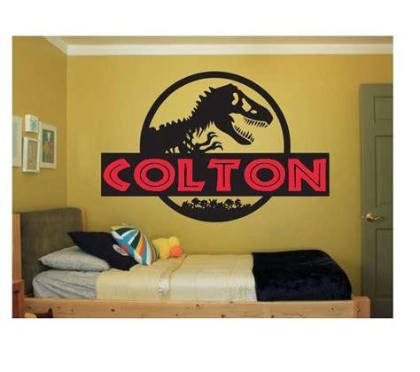 Bedroom Names by Custom Name Jurassicworld Decal Bedroom Wall Sticker