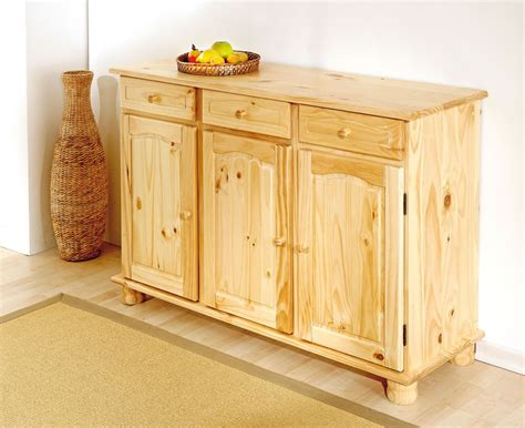 buffet de cuisine en pin buffet bahut rustique en pin massif naturel treviso