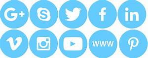 Social Media Buttons Pictures to Pin on Pinterest - PinsDaddy