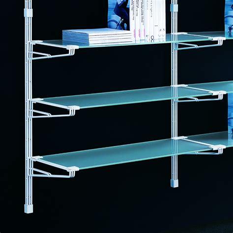 scaffali a parete socrate 40 scaffale a parete in acciaio bianco e vetro 196