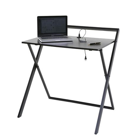 no assembly required desk onespace no assembly dark brown and black folding desk