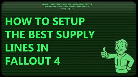 How To Setup The Best Supply Lines In Fallout 4  Youtube