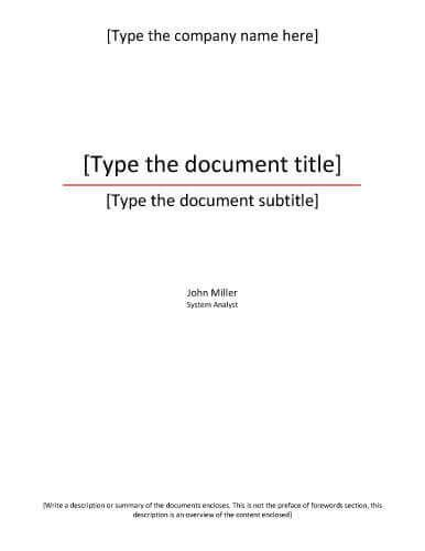 report cover page templates  business documents