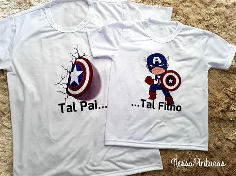 Kit Tal Pai Tal Filho(a) Capitão América no Elo7