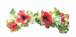 Transparent Red Flower Crown