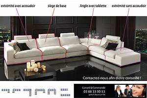 canap sur mesure en cuir vachette canap gamme canap With canape angle mesure