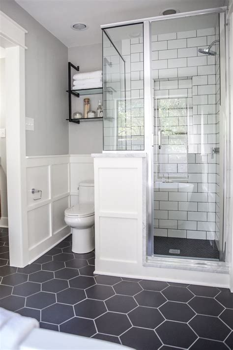 best 25 hexagon tile bathroom ideas on