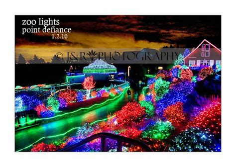 Zoo Lights Point Defiance by Kidd Photography Point Defiance Zoo Lights
