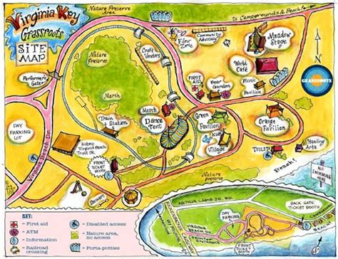 Virginia Key Grassroots Fest Site Map  Stacye Leanza