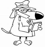 Coloring Detective Dog Notes Taking Rehab Spies Netart sketch template