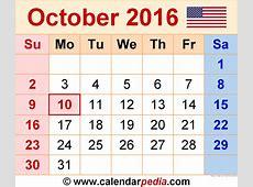 October 2016 Calendar Pdf – 2017 printable calendar