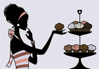 Cupcake Cupcakes Diva Silhouette Eating Mmm Woman