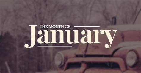 First Month Of The Year