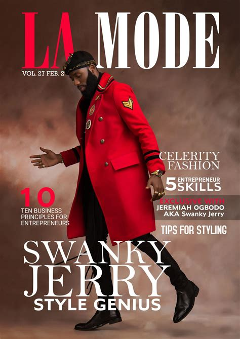 Swanky Jerry covers La Mode Magazine's Latest Issue | 36NG