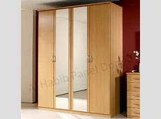 Four Doors Wardrobe With Looking Glass Hpd517 Free