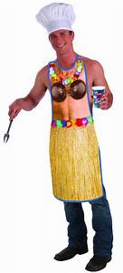 Hawaiian Luau Funny Apron Coconut Bra Grass Skirt Adult