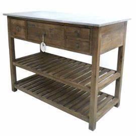 Table De Drapier : meuble style campagne console de m tier drapier 4 tiroir en bois pin zinc table de drapier ~ Teatrodelosmanantiales.com Idées de Décoration