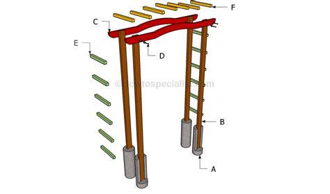 woodwork diy wood arbor  plans