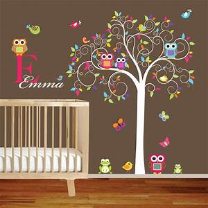 swirl tree vinyl wall decal set with by wallartdesign on etsy With wall decals etsy