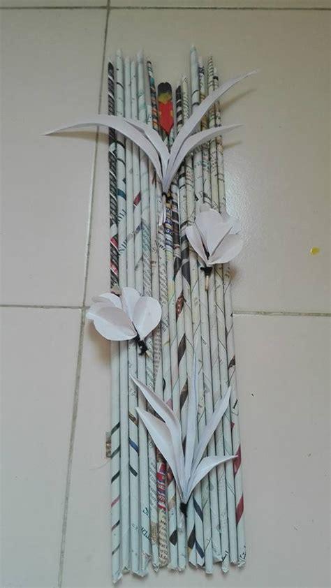 newspaper wall art simple craft ideas