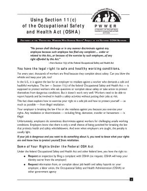 section 11 c of the osh act osha section 11c fill printable fillable blank