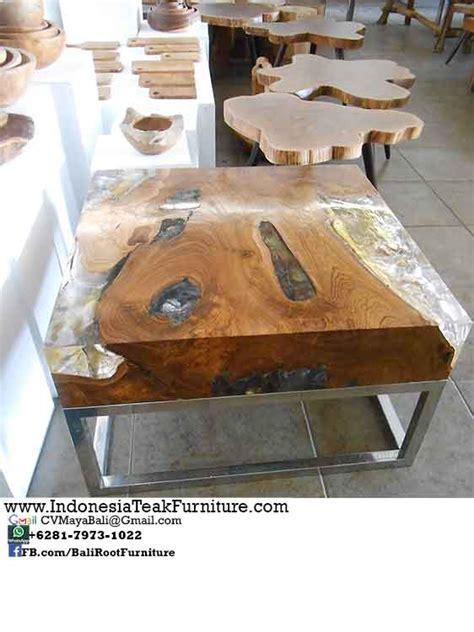 Tar  Teak Steel  Ee  Table Ee   Resin Bali Indonesia