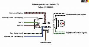 Emergency Flasher Switch Vw I P C  Vw Parts  Vw Bug Parts