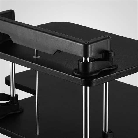 adjustable desktop standing desk 3 tier adjustable computer standing desk height adjustable