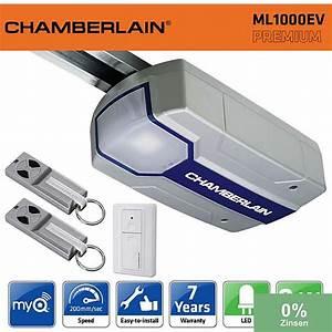 chamberlain ml1000ev 1000n kit motorisation porte de With motorisation porte de garage chamberlain
