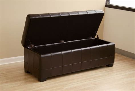 light brown leather ottoman black full leather storage bench ottoman with dimples
