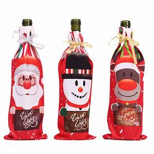 Gougu, Christmas, Decorations, For, Wine, Bottle, Cover, Santa, Claus, Xmas, Snowman, Stocking, Gift, Holders