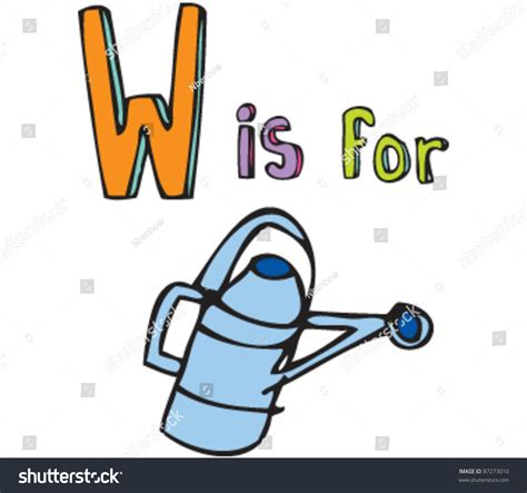 letter w is for walk stock vector image 71024801 drawing of letter w is for watering can stock vector