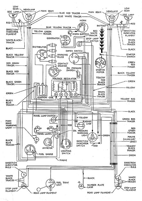 Stareo Wiring Diagram 1996 Ford Thunderbird With Power Antana by 134 Wiring Diagram 100e Anglia Prior Febuary 1955 Small