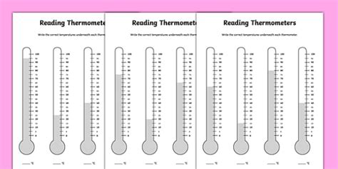 reading thermometers counting in 5s worksheet twinkl