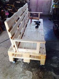 diy pallet sofa on wheels pallet ideas recycled With homemade furniture instructions
