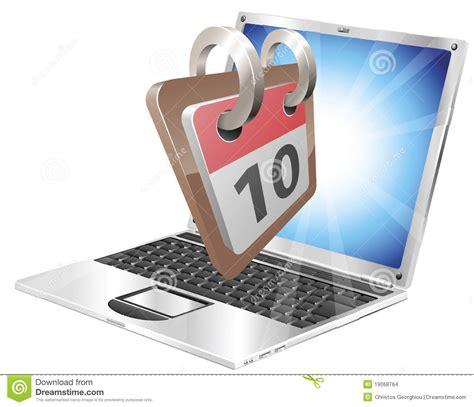 bureau d ordonnancement concept de calendrier de bureau d 39 ordinateur portatif
