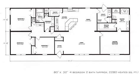 a floor plan 4 bedroom floor plan f 1001 hawks homes manufactured