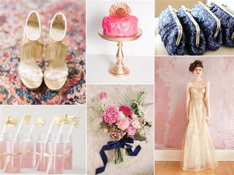 Pink Gold Navy Wedding Burnett's Boards Wedding