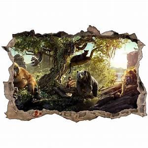 Stickers 3D Le Livre de la Jungle réf 52489 Stickers Muraux Enfant