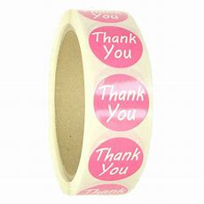 "Pink ""thank You"" Labels Stickers  1"" Diameter  500 Ct Roll  Sl087f Ebay"
